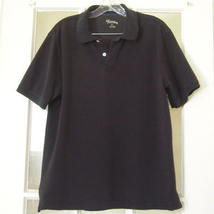St Johns Bay Mens Sz M Navy Cotton Polo Shirt